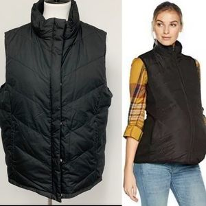 Mimi Maternity black reversible Puffy Down vest